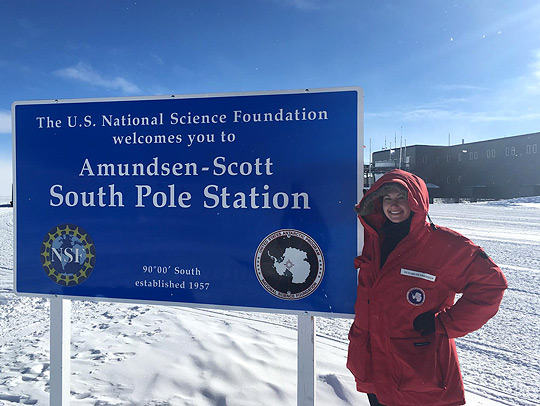 Liz Friedman in Antarctica