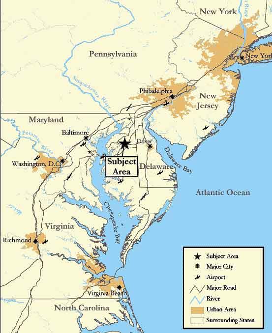 eastern shore maryland map Grasslands Plantation About The Property eastern shore maryland map